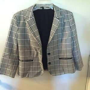 Express Black Checkered Blazer